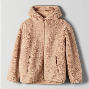 Aritzia TNA sherpa fleece hoodie